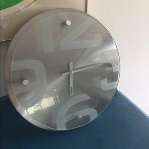 Other - Modern Glass STEEL 3D WALL CLOCK